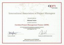 IAPM Certified Project Management Trainer