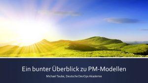 Überblick über PM+ DevOps Modelle