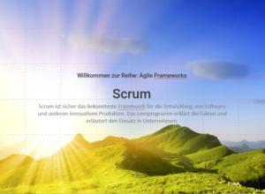 Startseite Lernprogramm: Agile Framework-Scrum