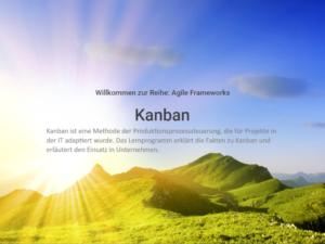 Agile Frameworls: Kanban