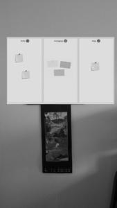 Task Board an Bürowand