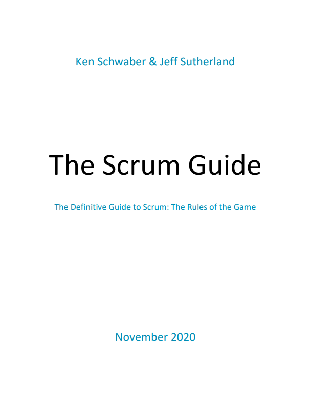 Scrum Guide 2020 - Titelseite